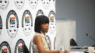 Former SAA Chairperson Cheryl Carlous testifying at the state capture inquiry. Picture: Nokuthula Mbatha/AfricanNewsAgency/ANA