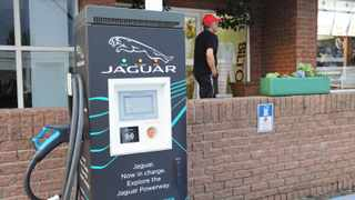 Jaguar electric recharge station at the Harrismith rest area just off the N3. Picture: Karen Sandison/African News Agency(ANA)