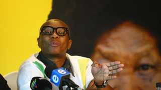 Zizi Kodwa addresses the media. Kodwa on Tuesday said no action will be taken yet against members of the ANC who have been named in the state capture commission as persons who were paid bribes by Bosasa. Picture: Bongani Mbatha/ African News Agency(ANA)