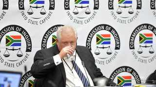 Former chief operations officer of Bosasa Angelo Agrizzi at the state capture inquiry in Parktown, Gauteng. Picture: Itumeleng English/African News Agency(ANA).