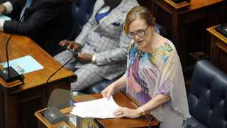 Western Cape Premier Helen Zille delivers her State of the Province address. Picture: Armand Hough/African News Agency(ANA)
