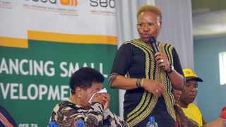 Small Business Development Minister Lindiwe Zulu speaks in Mamelodi. Several officials from the department have been suspended with immediate effect. File picture: Bongani Shilubane/African News Agency/ANA