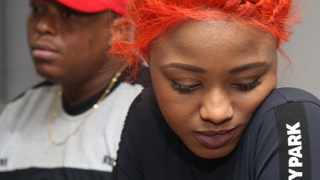 Babes Wodumo, real name Bongekile Simelane was seen in her recorded video being beaten multiple times by her boyfriend and manager Mampintsha of Big Nuz fame. In this file picture  Mampintsha and Babes addressing the Media at Coastland Hotel in Waterfront  on the 23 June 2017 Picture:Zanele Zulu/African News Agency(ANA)