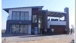 May 26 - Sam Nzima was in the process of moving into this new house with his family in Lilydale village in Mpumalanga when he collapsed and later died at hospital. Photo: Balise Mabona