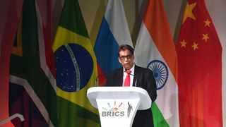 BRICS Business Council chairman Dr Iqbal Survé speaks at summit. PHOTO: Itumeleng English/Africa News Agency (ANA)