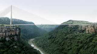 Artist's impression of the Msikaba bridge  (Pic supplied: Meropa Communications)