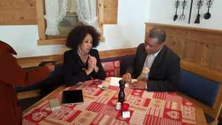 Minister of International Relations Lindiwe Sisulu speaking to African News Agency (ANA) on the sidelines of the World Economic Forum in Davos, Switzerland. Photo: ANA