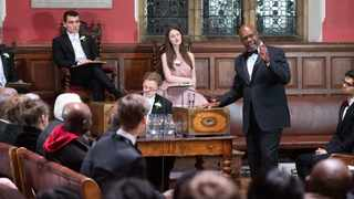 Arthur Mutambara, former deputy prime minister of Zimbabwe, speaks a the Oxford Union Debate Society, University of Oxford in the UK.