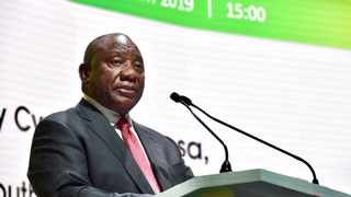 President Cyril Ramaphosa speaking at the 25th annual Investing in African Mining Indaba in Cape Town on Tuesday (Pic: the Presidency Twitter)
