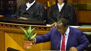 Minister of Finance Tito Mboweni delivers the 2019 budget speech on Wednesday. Business Unity South Africa president Sipho Pityana has said that Mboweni has not addressed the fundamental challenges for South Africans and the economy. Picture: Phando Jikelo/African News Agency(ANA)