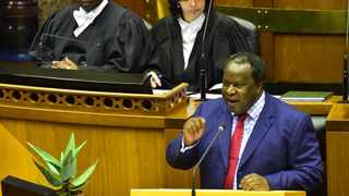 South Africa Finance Minister Tito Mboweni delivers the 2019 Budget in Parliament on Wednesday. PHOTO: GCIS