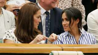 Kate, Duchess of Cambridge and Meghan, Duchess of Sussex. Picture: AP