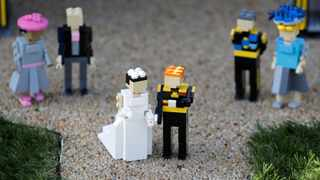 FILE PHOTO: A LEGO Windsor Castle replete with the upcoming wedding between Britain's Prince Harry and Meghan Markle, is seen at Legoland, in Windsor