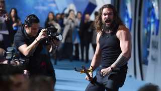 Jason Momoa arrives at the premiere of 'Aquaman' at TCL Chinese Theatre on Wednesday, Dec. 12, 2018, in Los Angeles. Picture: AP