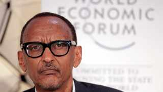 Paul Kagame, President of Rwanda, participates in a session at the annual meeting of the World Economic Forum in Davos, Switzerland, Wednesday, Jan. 23, 2019. (AP Photo/Markus Schreiber)