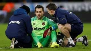 Lukasz Fabianski sustained the injury while taking a goal kick in the 2-2 draw at Bournemouth. Photo: Craig Brough/Reuters