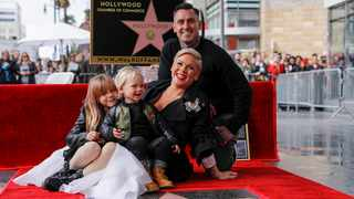 Singer and songwriter Pink receives star on Hollywood Walk of Fame in Los Angeles. Picture: Reuters