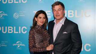 Hilaria Baldwin and Alec Baldwin. Picture: Reuters