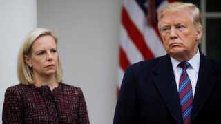President Donald Trump and Department of Homeland Security Secretary Kirstjen Nielsen. Picture: Carlos Barria/Reuters/African News Agency (ANA)Archives