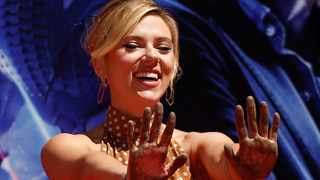 Scarlett Johansson at the TCL Chinese Theatre in Hollywood. Picture: Reuters