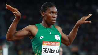 """""""I will once again rise above and continue to inspire young women and athletes in South Africa and around the world,"""" says Caster Semenya. Photo: Reuters"""