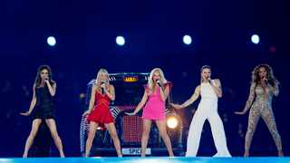 The Spice Girls perform during the closing ceremony of the London 2012 Olympic Games. Picture: Reuters