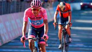 Ecuador's Richard Carapaz leads Italy's Vincenzo Nibali to complete the 20th stage of the Giro d'Italia cycling on Saturday. Carapaz became the first ever rider from Ecuador to win the race when he finished in just over a minute ahead of Nibali on Sunday. Photo: Alessandro Di Meo/AP