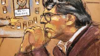 A courtroom sketch of Nxivm leader Keith Raniere, facing charges including racketeering, sex trafficking and child pornography is shown in this courtroom sketch in US Federal Court in Brooklyn. Picture: Jane Rosenberg/Reuters