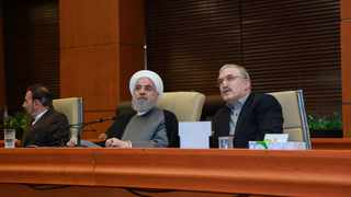 Iranian President Hassan Rouhani attends a ceremony for launching the Electronic Health Record in Tehran. Picture: Official President website/Handout via Reuters