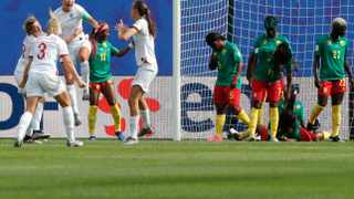 """Cameroon coach Alain Djeumfa pointed the finger at the referee, calling the defeat a """"miscarriage of justice"""". Photo: Michel Spingler/AP"""