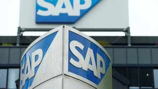 The logo of German software group SAP is pictured at its headquarters in Walldorf. Photo: Reuters.