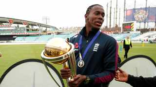 England paceman Jofra Archer has spent lockdown desperately trying to find his World Cup winner's medal after losing it during a recent house move. Photo: Reuters