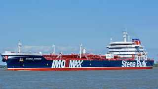 British oil tanker Stena Impero at an unknown location, which is believed to have been captured by Iran. Picture:Basil M Karatzas, Karatzas Images via AP/African News Agency (ANA)