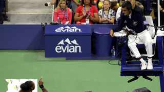 In this file photo, Serena Williams, left, talks with chair umpire Carlos Ramos during the women's final of the U.S. Open tennis tournament against Naomi Osaka, of Japan, in New York. The indelible image from last year's U.S. Open does not involve anyone holding a trophy or making a particularly remarkable shot. It will be Williams pointing a finger at Ramos as she insisted he owed her an apology. Photo: Seth Wenig/AP Photo