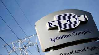 FILE PHOTO: Denel company logo is seen at the entrance of their business divisions in Pretoria, South Africa