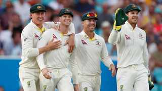 Australia's batsmen must offer more support to Steve Smith (second left)  during the two-test series against Pakistan. Photo: Andrew Boyers/Reuters