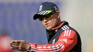 FILE - In this January 2012 file photo, England's head coach Andy Flower gives instructions to his players during a cricket practice session at the Sheikh Zayed Cricket Stadium in Abu Dhabi, United Arab Emirates. Former head coach Andy Flower is leaving the England and Wales Cricket Board after 12 years. The 51-year-old Zimbabwean was appointed England assistant coach to Peter Moores in 2007. He took over as head coach two years later and then switched to working with the Young Lions in 2014. Photo: Hassan Ammar/AP