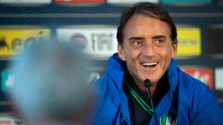 Italy's head coach Roberto Mancini smiles during a press conference one day prior to the UEFA Euro 2020 Qualifying, Group J soccer match between Liechtenstein and Italy. Photo: Gian Ehrenzeller, Keystone via AP