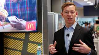 FILE PHOTO: McDonald's incoming U.S. President Chris Kempczinski speaks during a press conference in New York