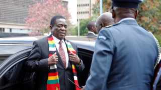 Zimbabwe President Emmerson Mnangagwa arrives for the presentation of the 2020 National Budget at Parliament Building in Harare. File picture: Philimon Bulawayo/Reuters