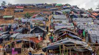 Newly set up tents cover a hillock at a refugee camp for Rohingya Muslims who crossed over from Myanmar into Bangladesh. Picture: Dar Yasin/AP
