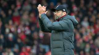 Liverpool manager Jurgen Klopp greets fans after their English Premier League match against Watford at Anfield on Saturday. Photo: Rui Vieira/AP