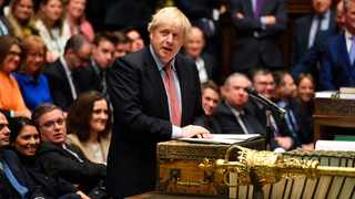 Britain's Prime Minister Boris Johnson speaks to the house on the first day of the new Parliament, in London, Tuesday, Dec. 17, 2019. Photo: Jessica Taylor/House of Commons via AP.