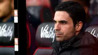 Arsenal manager Mikel Arteta looks on during their English Premier League soccer match against AFC Bournemouth at the Vitality Stadium, Bournemouth on Thursday. Photo: Mark Kerton/AP