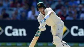Steve Smith scored 77 not out to thrill a record crowd of more than 80,000 spectators at the Melbourne Cricket Ground on Thursday. Photo: AP Photo