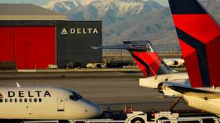 A Delta Air Lines flight is pushed put of its gate at the airport in Salt Lake City.  File picture: Mike Blake/Reuters