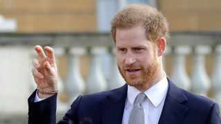 Prince Harry watched children playing rugby league in the back garden of Buckingham Palace ahead of making the draw for the sport's World Cup next year. Picture: Kirsty Wigglesworth/AP/African News Agency (ANA)