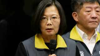 Taiwan President Tsai Ing-wen speaks during a news conference in Taipei. Picture: Fabian Hamacher/Reuters