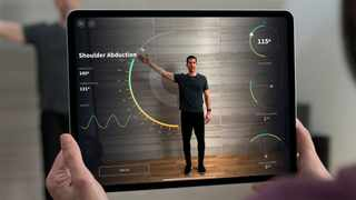 The new iPad Pro with augmented reality capabilities. Picture: Apple via AP