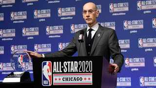 The NBA isn't close to making any decisions on a potential restart, and it isn't setting any deadlines, commissioner Adam Silver said Friday. Photo: AP Photo/David Banks